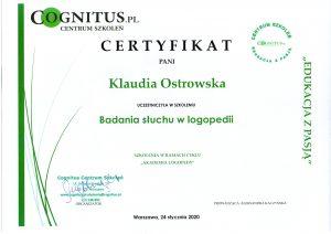Certyfikaty logostra 5